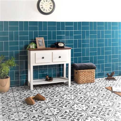 Blore Black Ceramic Floor Tiles
