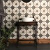 Canis Black Ceramic Floor Tiles
