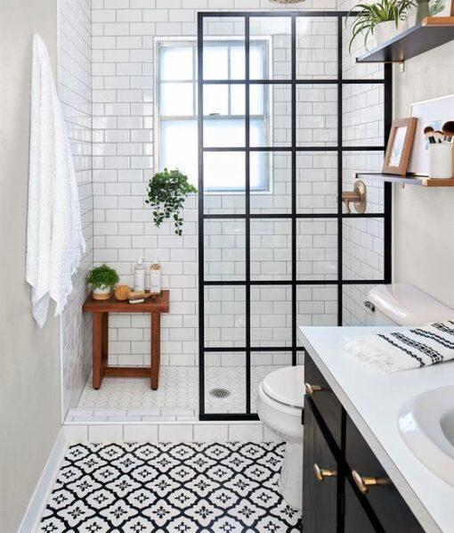 Shower room. Comet vinyl tiles