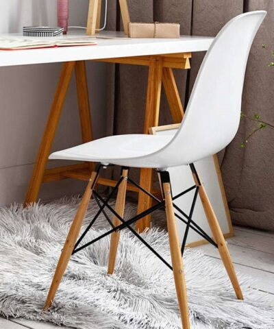 Eames DSW White Office Chair