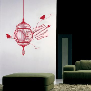 Free Birds Wall Sticker Cherry