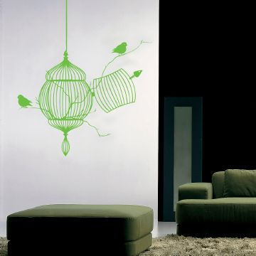 Free Birds Wall Sticker Lime Green