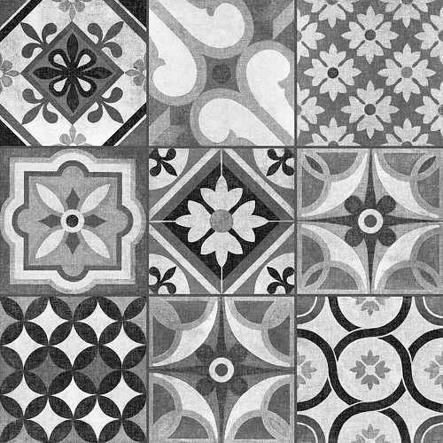 Mixed gracia vinyl floor tiles