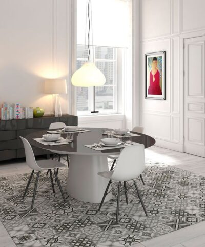 Porcelain tiles for dining area