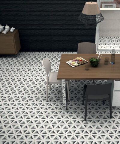 Porcelain tiles Hexagram