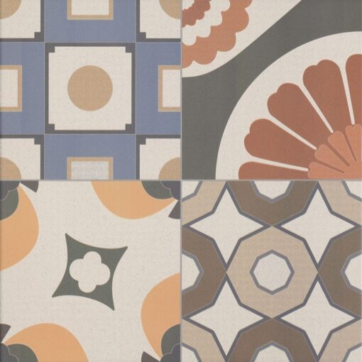 Mixed Maroc porcelain tiles