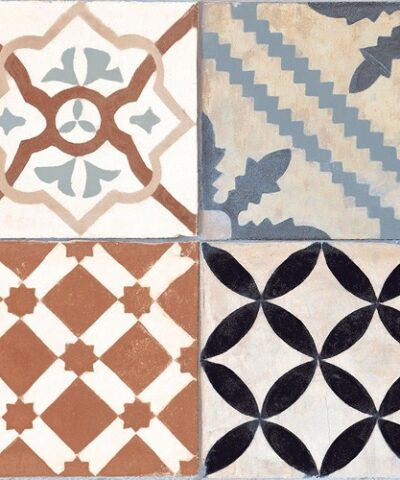 Brown mixed ceramic floor tiles Ribera