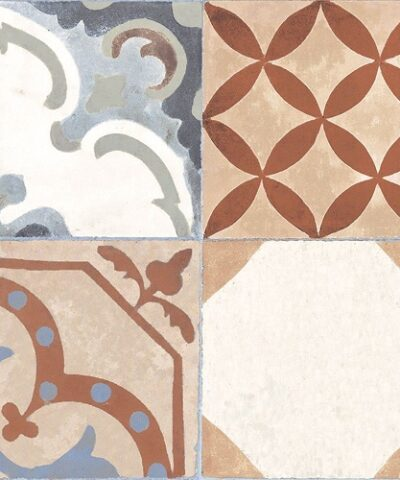 Brown ceramic floor tiles Ribera detail