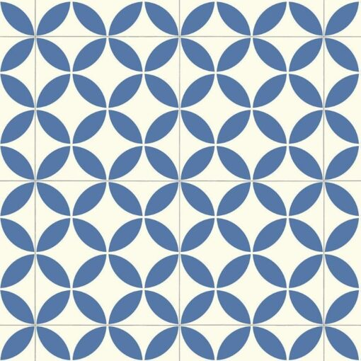 Ronda blue vinyl floor tile