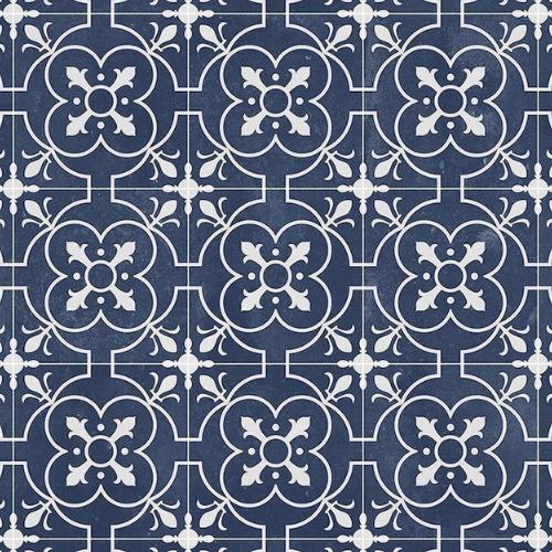 Blue sheet vinyl flooring Ruskin detail