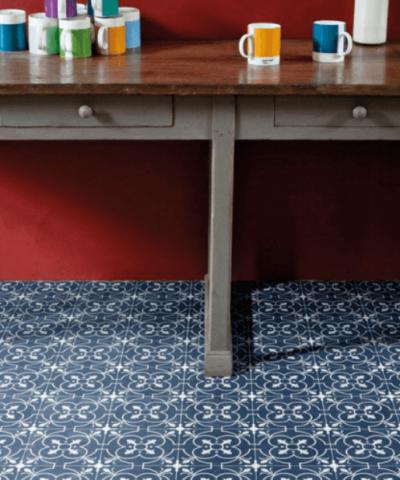 Blue sheet vinyl flooring Ruskin