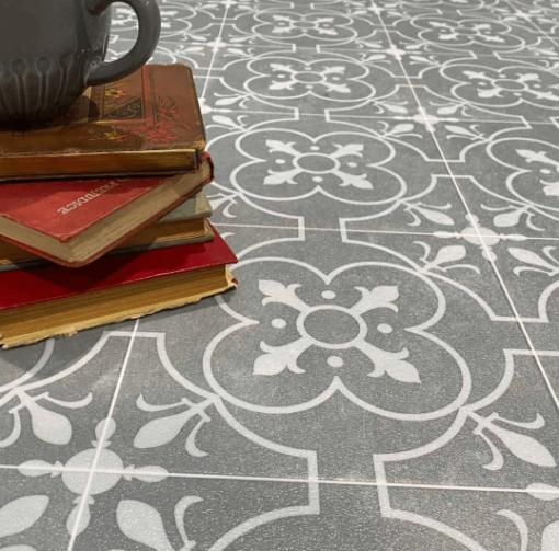 Grey sheet vinyl flooring Ruskin