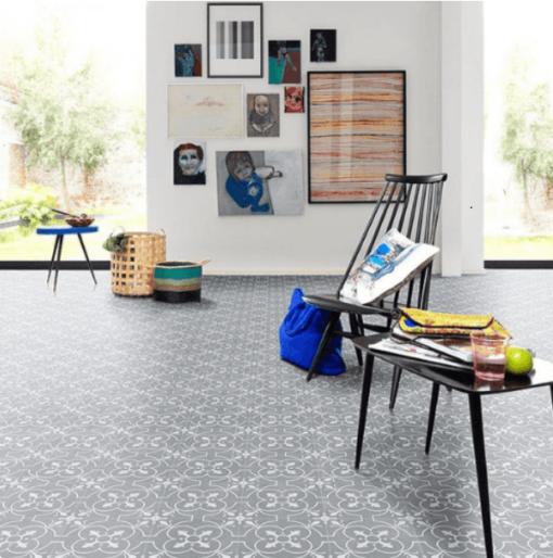 Grey sheet vinyl flooring Home Office