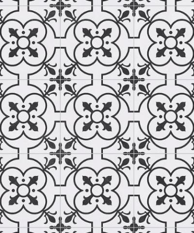 White sheet vinyl flooring Ruskin detail