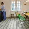 Kitchen square vinyl floor tile Seville