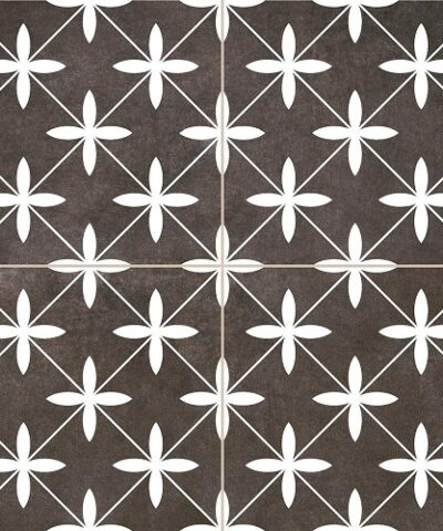 Compass Black Ceramic Tile