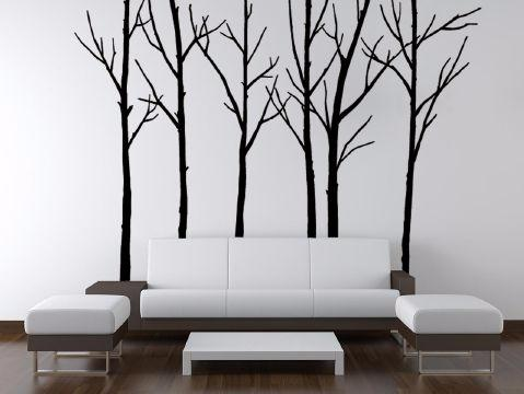 Stunning winter tree wall stickers