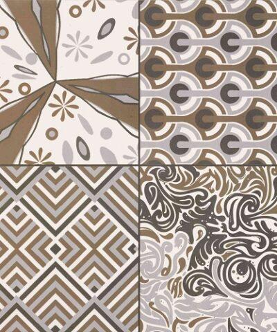 Brown floor tiles Braga collection