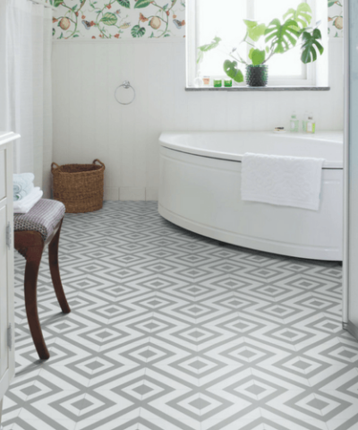Zazous Cairo bathroom floor vinyl tiles