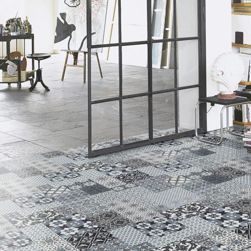 Castello grey vinyl flooring