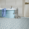Blue bathroom vinyl floor tiles Zazous