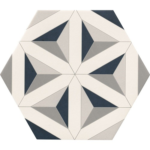 Porcelain tiles Hexagram detail