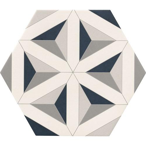 Porcelain tiles Hexagram detail