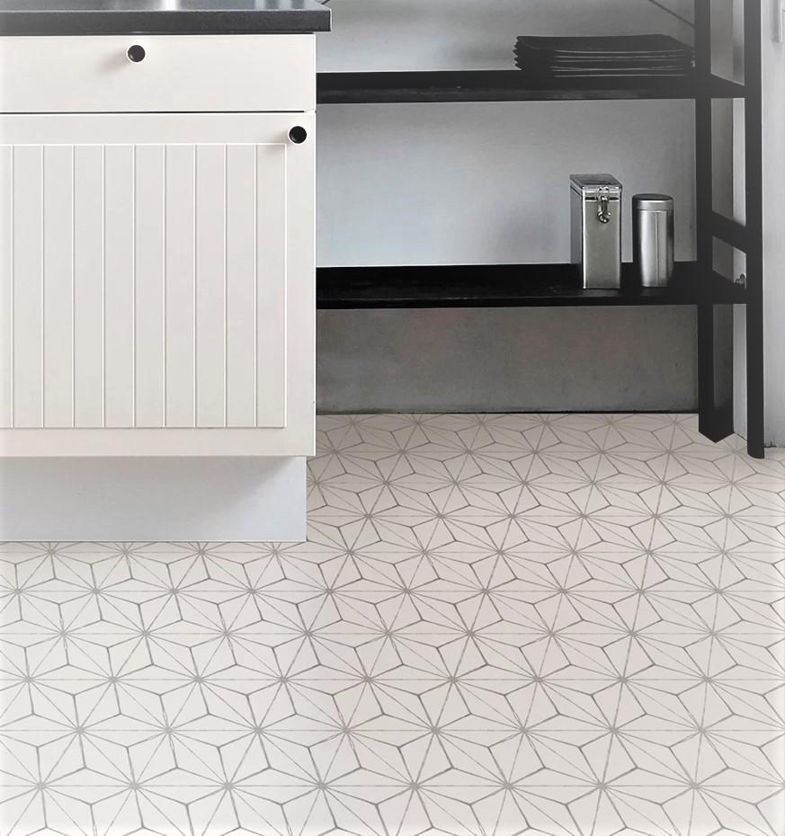 Kikko Vinyl Floor Tiles kitchen