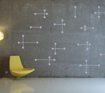 Atomic Wall Sticker Grey