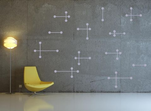 Atomic Wall Sticker Grey
