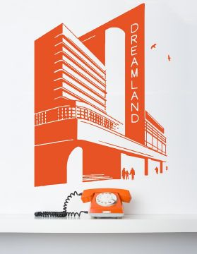 Dreamland Orange Wall Sticker
