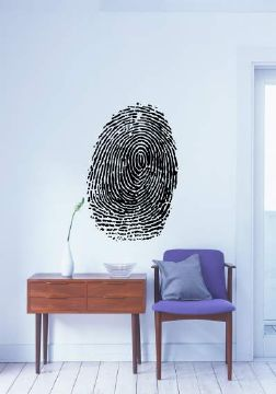 Fingerprint Wall Sticker Black