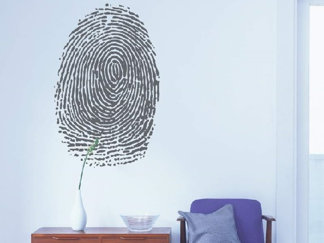 Fingerprint Wall Sticker Dark Grey