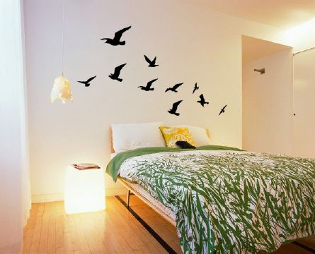 Flock of Birds Wall Sticker in Black