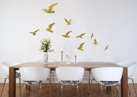 Flock of Birds Wall Sticker in Gold