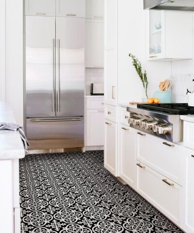 Gothic vinyl floor tiles kitchen floor