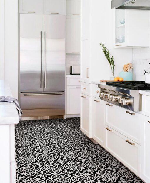Gothic vinyl floor tiles kitchen floor