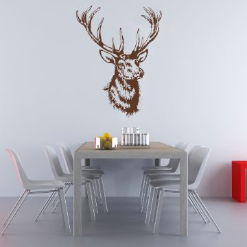 Kitsch Wall Sticker Brown