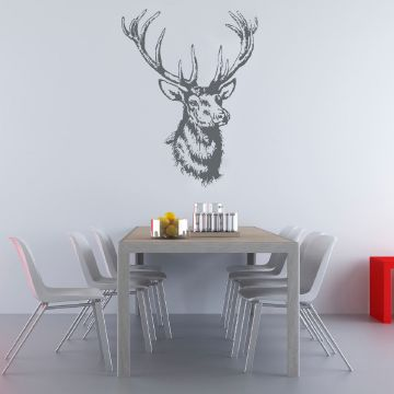 Kitsch Wall Sticker Dark Grey