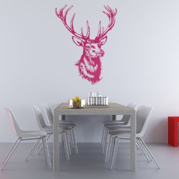 Kitsch Wall Sticker Magenta