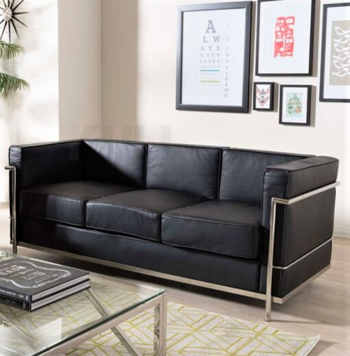 Le Corbusier Style 3 seat Sofa