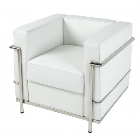 Le Corbusier LC2 Armchair in white