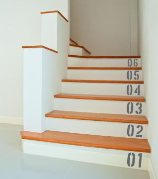 Stair Numbers Wall Sticker