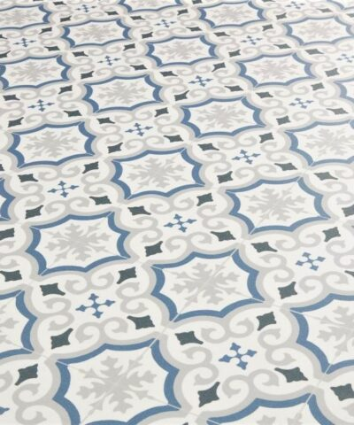 Cuenca Blue Sheet Vinyl Flooring
