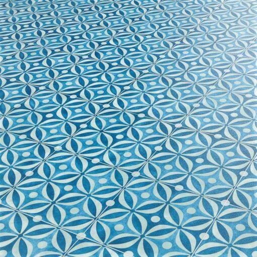 Emilia Azure Sheet Vinyl Flooring