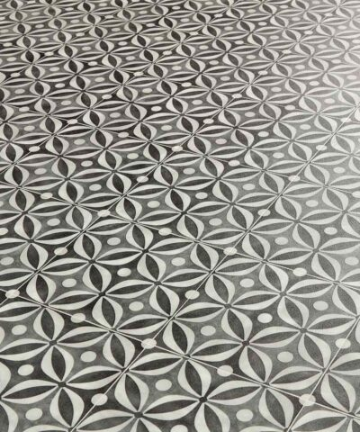 Emilia Black Sheet Vinyl Flooring