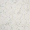 Marble Hex White Sheet Vinyl Flooring