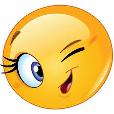 Flirty wink emoji | Winking emoji, Funny emoticons, Emoticons emojis