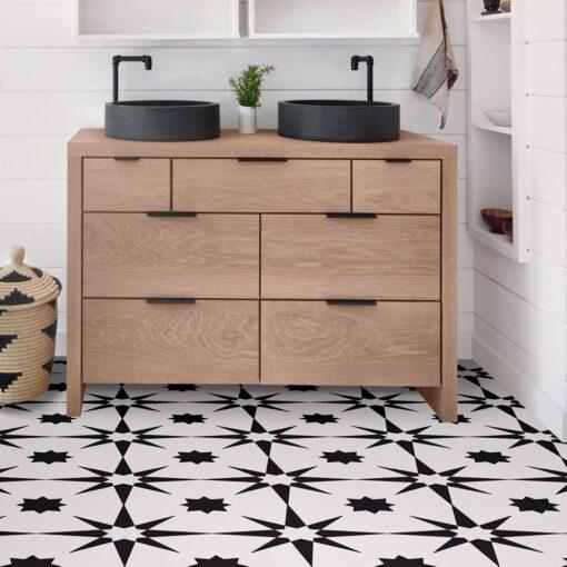 Altair Vinyl Floor Tiles bathroom