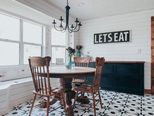 Altair Vinyl Floor Tiles dining area